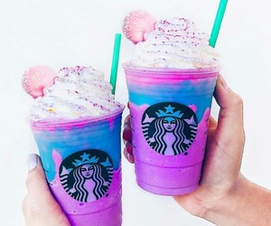 heart, sturbucks, and raimbow image