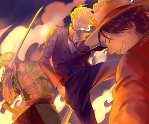 art, one piece, and luffy image