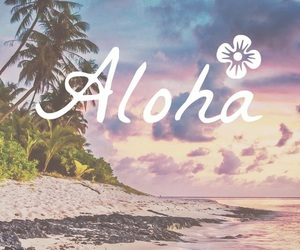 Aloha, wallpaper, and beach image