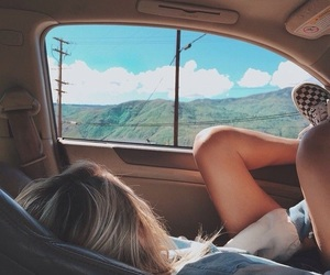 beautiful, girl, and Road Trip image
