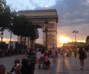 beautiful, champs elysees, and paris image
