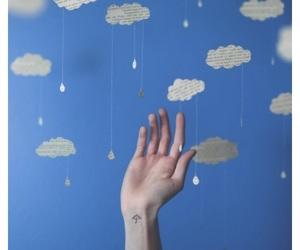blue, cloud, and minimalist image