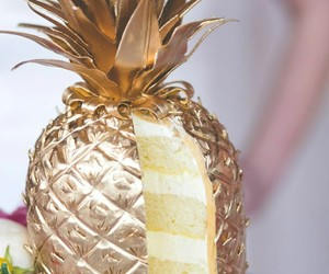 cake, pineapple, and food image