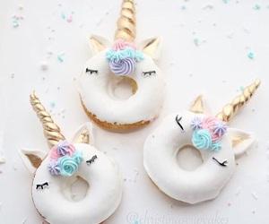unicorn, donuts, and sweet image
