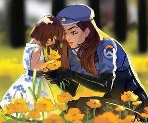 ana, pharah, and hana image