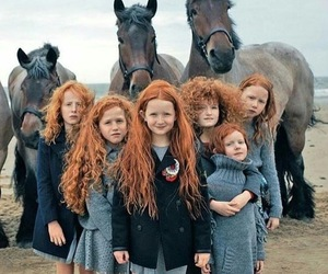 horse, redhead, and red image
