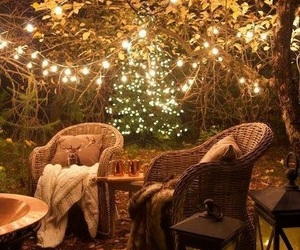 garden, cozy, and light image
