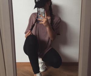 girl, fashion, and selfie image