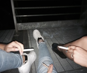 smoke, girl, and tumblr image