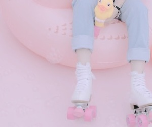 aesthetic, pastel, and roller image