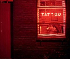 red, tattoo, and aesthetic image
