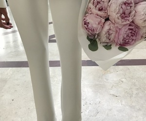 girls, heels, and peonies image