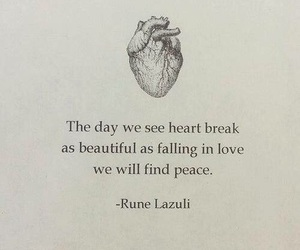 heartbreak, peace, and quote image