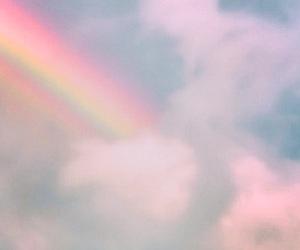 rainbow, sky, and pastel image