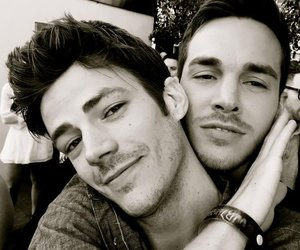 grant gustin, chris wood, and the flash image