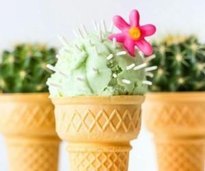 cactus, food, and ice cream image