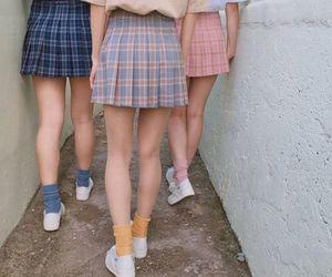 girl, fashion, and skirt image