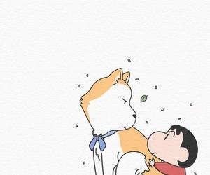 boy, dog, and wallpaper image