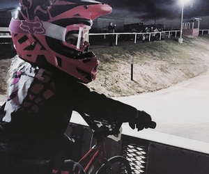 blonde, bmx, and camping image