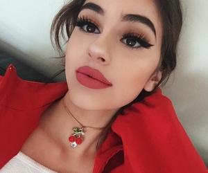 makeup, red, and didar image