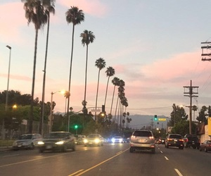 los angeles and sunset image