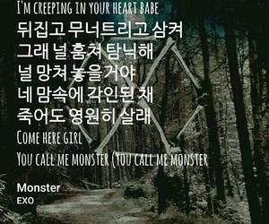 exo, kpop, and monster image