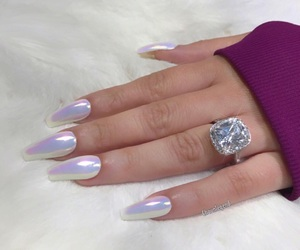 diamond, gold, and nails image