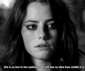 skin, Effy, and sadness image