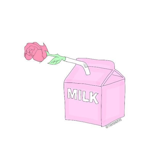 draw, illustration, and milk image