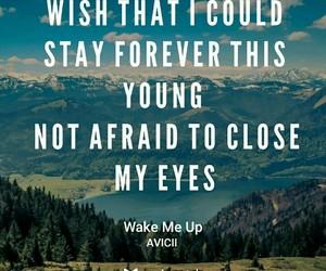 Lyrics, music, and wake me up image