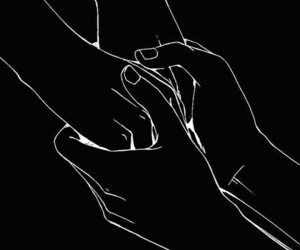 hands, art, and couple image
