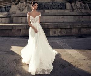 wedding, wedding dress, and white image