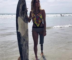 beach, surfer girl, and girl image