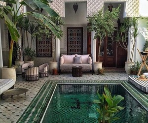 pool, green, and home image