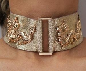 fashion, gold, and choker image