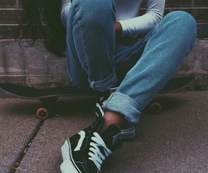 vans, skate, and jeans image