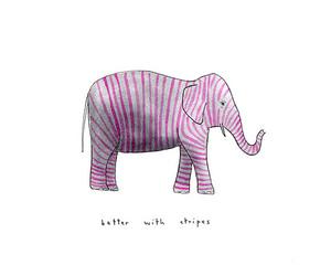 elephant, marc johns, and stripes image