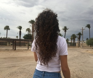 beach, curls, and curly image