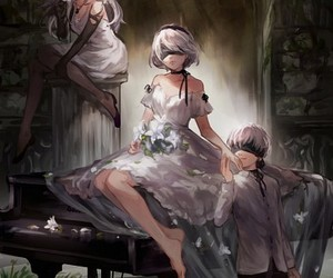 video games, nier automata, and type a no.2 image