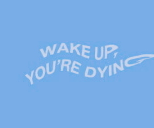 header, blue, and quotes image