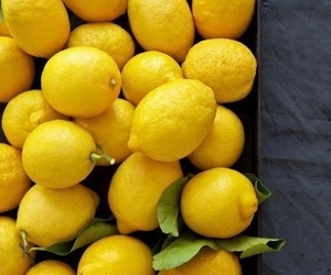 lemon, food, and yellow image