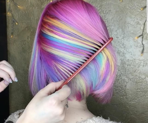 hair and colorful image