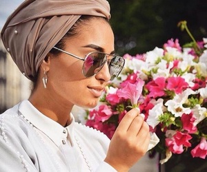 flower, hijab, and turban image