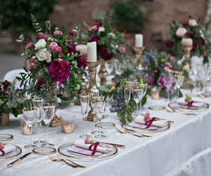 cake, decoration, and flowers image