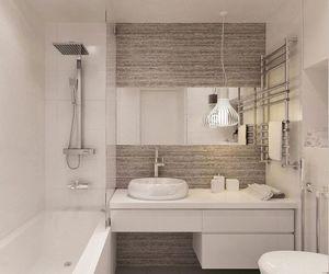 bath, bathroom, and brown image