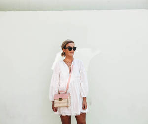 dress, minimalist, and tan image