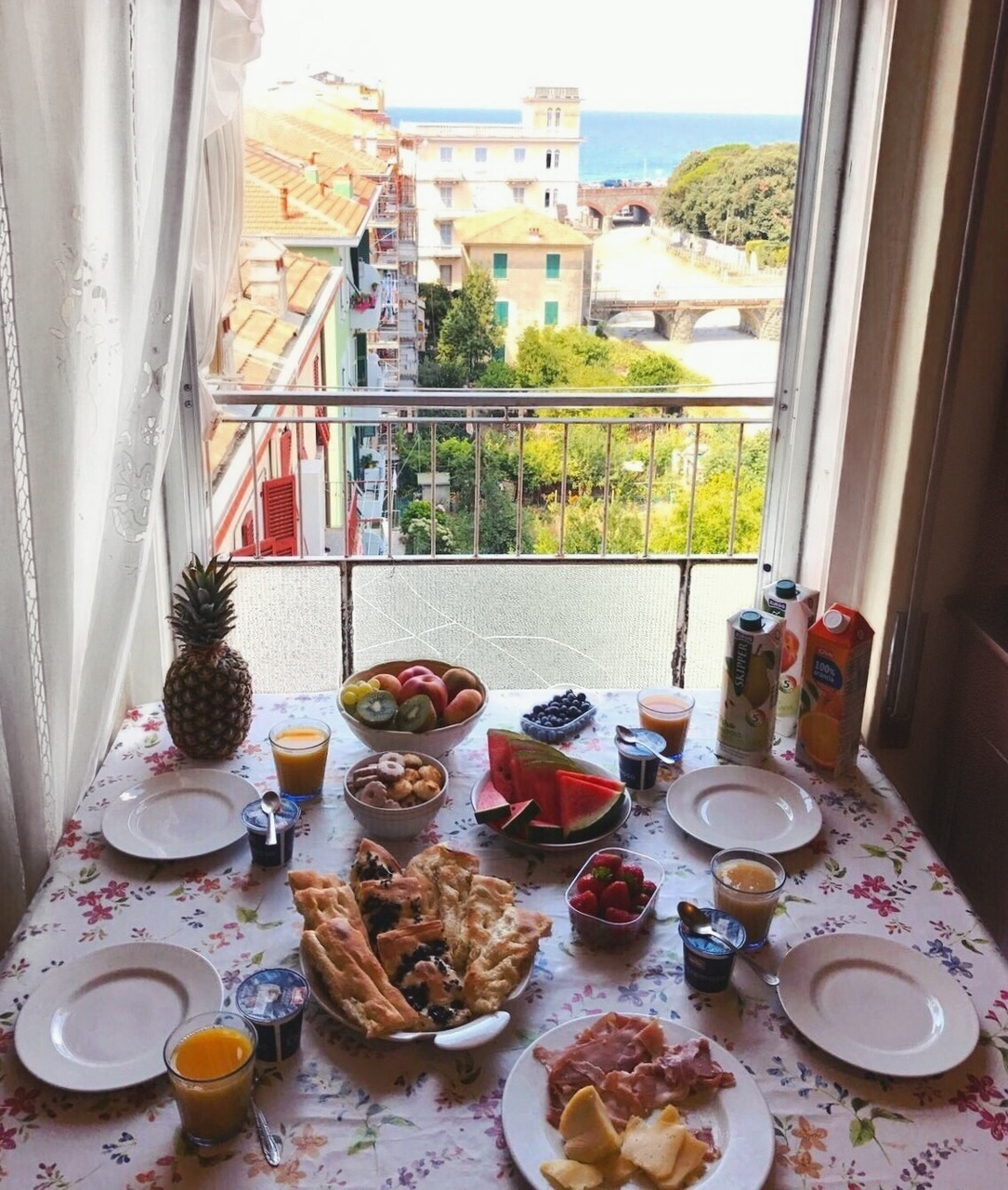 balcony, breakfast, and brunch image