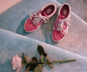 vans, pink, and rose image