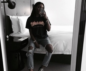 faded, girl, and trasher image
