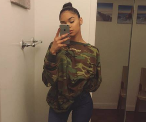 camo, girls, and mirror selfie image